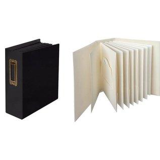 GRAPHIC 45 Graphic 45, ATC, etiqueta y álbum de bolsillo en marfil o negro