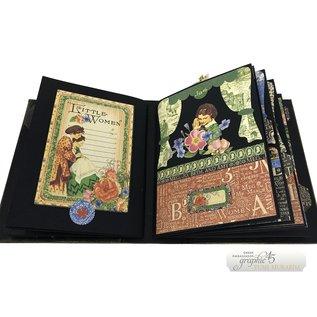 GRAPHIC 45 Graphic 45, ATC, Tag & Pocket Album in avorio o nero
