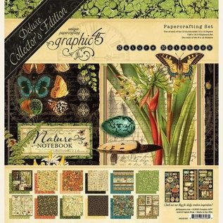 GRAPHIC 45 Paper Pad Collection, Nature Notebook, Deluxe Collector's Edition