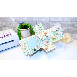 Crafter's Companion Papirblok til kort og scrapbooking, 48 ark, 30,5 x 30,5 cm, 180 gsm!