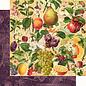 """GRAPHIC 45 Grafica 45, Collezione """"Fruit & Flora"""", blocco di carta di design 30,5 x 30,5 cm + set di adesivi!"""
