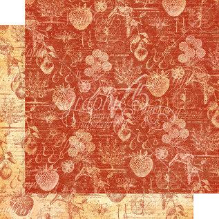 "GRAPHIC 45 Grafik 45, ""Fruit & Flora"" Collection, designer papirblok 30,5 x 30,5 cm + klistermærkesæt!"