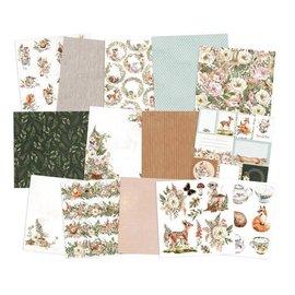 Karten und Scrapbooking Papier, Papier blöcke Papel de diseño Tea Party, 12 x 12cm, 240gr