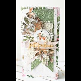 Karten und Scrapbooking Papier, Papier blöcke Designer-Papier Tea Party, 12 x 12cm, 240gr
