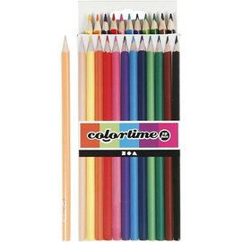FARBE / MEDIA FLUID / MIXED MEDIA 12 crayons de couleur Colortime, différentes couleurs