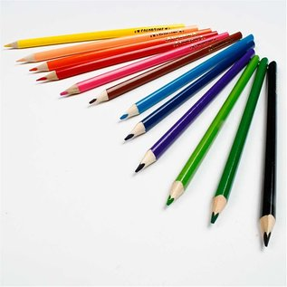 FARBE / MEDIA FLUID / MIXED MEDIA 12 Colortime kleurpotloden, verschillende kleuren