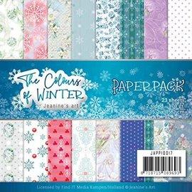 Joy!Crafts / Jeanine´s Art, Hobby Solutions Dies /  Papier à motifs, Les couleurs de l'hiver, 15 x 15 cm, 23 feuilles, 170gr