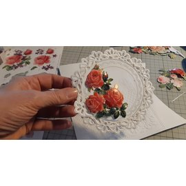 3D Pre-Cut A4 ark: roser