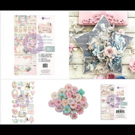"""Prima Marketing und Petaloo vidunderlig samling """"med LOVE"""", designerpapir, blomster, klistermærker og journalnotater"""