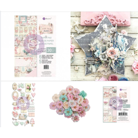 "Prima Marketing und Petaloo wonderful collection ""with LOve"", designer paper, flowers, stickers and journaling notecards"