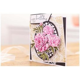 Stamping template + matching images for designing 3D flowers