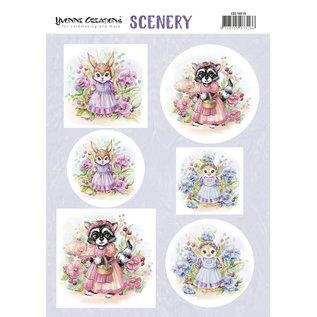 """Yvonne Creations Fogli singoli, A4, """"animali adorabili"""" Spingere fuori"""