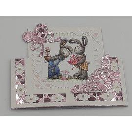 Bilder, 3D Bilder und ausgestanzte Teile usw... A4, billedark: Bunny Love