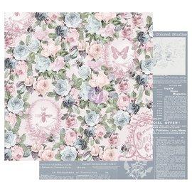 Prima Marketing und Petaloo Designerpapir, Poetic Rose, 30,5 x 30,5 cm (12 x 12 tommer)