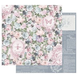 Prima Marketing und Petaloo Papel de diseño, Poetic Rose, 30,5 x 30,5 cm (12 x12 pulgadas)