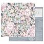 Prima Marketing und Petaloo Designpapier, Poetic Rose, 30,5 x 30,5 cm (12 x 12 inch)