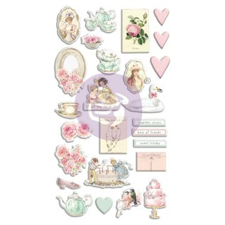 """Prima Marketing und Petaloo 26 pieces, 3D puffy stickers, from the collection """"with love"""""""