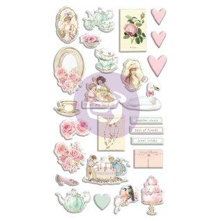 """Prima Marketing und Petaloo 26 stuks, 3D gezwollen stickers, uit de collectie """"with love"""""""