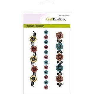 Craftemotions Transparant stempelmotief, A6, bloemenranden