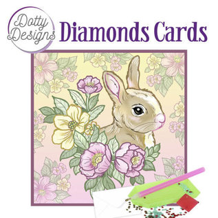 BASTELSETS / CRAFT KITS Knutselset, Dotty Designs Diamond Cards - Rabbit