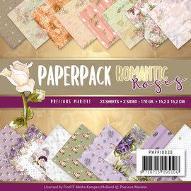 Precious Marieke Motiefpapier, 15,2 x 15,2 cm, Kostbare Marieke, Romantische rozen