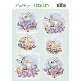 Yvonne Creations Feuille de découpe A4, Lovely Animals
