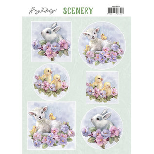 Yvonne Creations A4 die cut sheet, Lovely Animals