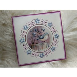 Yvonne Creations A4 stansvel, Lovely Birds