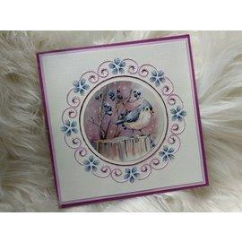 Yvonne Creations A4 utstanset ark, Lovely Birds