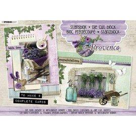 Bilder, 3D Bilder und ausgestanzte Teile usw... A5 Stanzblock, La Provence, zur Gestaltung von 6 Karten