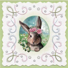 Bilder, 3D Bilder und ausgestanzte Teile usw... Hoja troquelada en 3D, con 3 lindos motivos, Pascua, primavera!