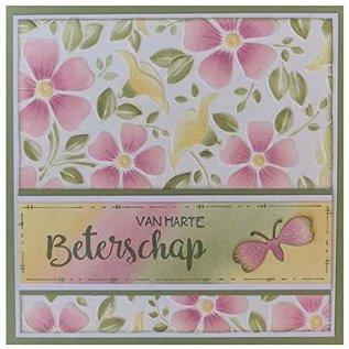 3D Embossingsfolder, Backgrounds Flowers, 152 x 152mm. Zum tiefen Relief Prägung auf Karten, Alben Kollage, Scrapbooking , Mixed Media u.v.m.