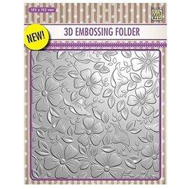 3D Embossingsfolder, Achtergronden Bloemen, 152 x 152 mm