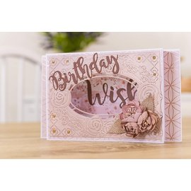 Crafter's Companion Embossing folder and punching template, embossing and punching, Decorative roses frame, 12.7 x 17.8 cm,