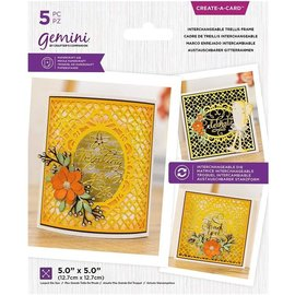 Crafter's Companion Embossing folder and punching template, decorative frame, 12.7 x 12.7 cm.