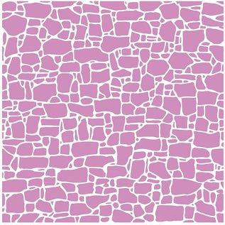 Embossing folder, 15,2 x 15,2 cm, stenen muur
