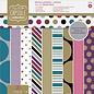 Docrafts / Papermania / Urban Designblok, 30,5 x 30,5 cm, stippen en strepen, 16 x 2 ontwerpen, 32 vellen