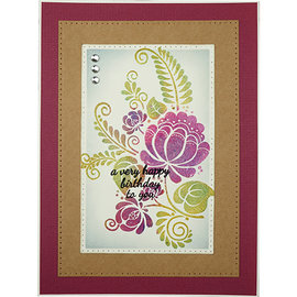 CREATIVE EXPRESSIONS und COUTURE CREATIONS Transparent stamp, flower silhouette
