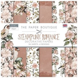 Karten und Scrapbooking Papier, Papier blöcke Blocco di carta, romanticismo steampunk, 36 fogli, 160 gsm,