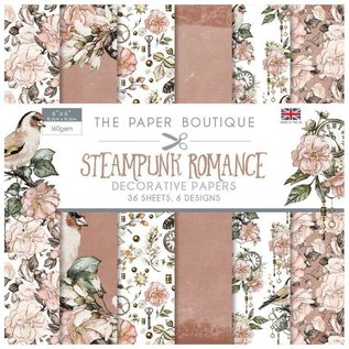 Karten und Scrapbooking Papier, Papier blöcke Bloc papier, romance steampunk, 36 feuilles, 160 g/m²,