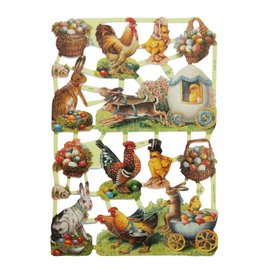 Bilder, 3D Bilder und ausgestanzte Teile usw... Easter pictures, scrap pictures, 14 motifs