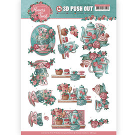 Yvonne Creations Die cut sheets, A4, 3D Tea Time, for design on cards, albums, collages, scrapbooking, decorations and much more