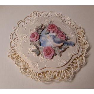AMY DESIGN Stansvellen, A4, 3D Bird and Roses, voor ontwerp op kaarten, albums, collages, scrapbooking, decoraties en nog veel meer