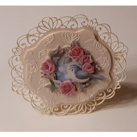 AMY DESIGN Die cut sheets, A4, 3D Bird and Roses, for design on cards, albums, collages, scrapbooking, decorations and much more