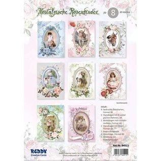 NUOVO DI ZECCA! Carte, set di artigianato, bambini rosa, set per disegnare 12 carte!