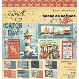 GRAPHIC 45 BRAND NEW! Catch of the Day 20 X 20cm, 8x8 inch paper pad