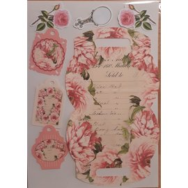 Vintage, Nostalgia und Shabby Shic 35% discount! 1 pre-cut box with decorations to create a gift box
