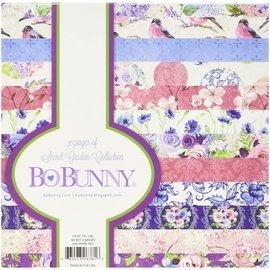 BO BUNNY Papirblokk, av Bo Bunny, Secret Garden, 15,5 x 15,5 cm, 36 ark!