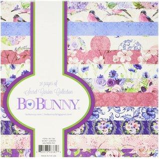 BO BUNNY Bloque de papel, de Bo Bunny, Secret Garden, 15,5 x 15,5 cm, 36 hojas.
