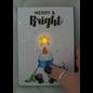 BASTELSETS / CRAFT KITS Kit artisanal: 3 mini autocollants de circuit LED + ruban adhésif en cuivre de 60 cm